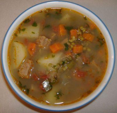 Машевый суп (бобы мунг, фасоль золотистая) : Первые блюда