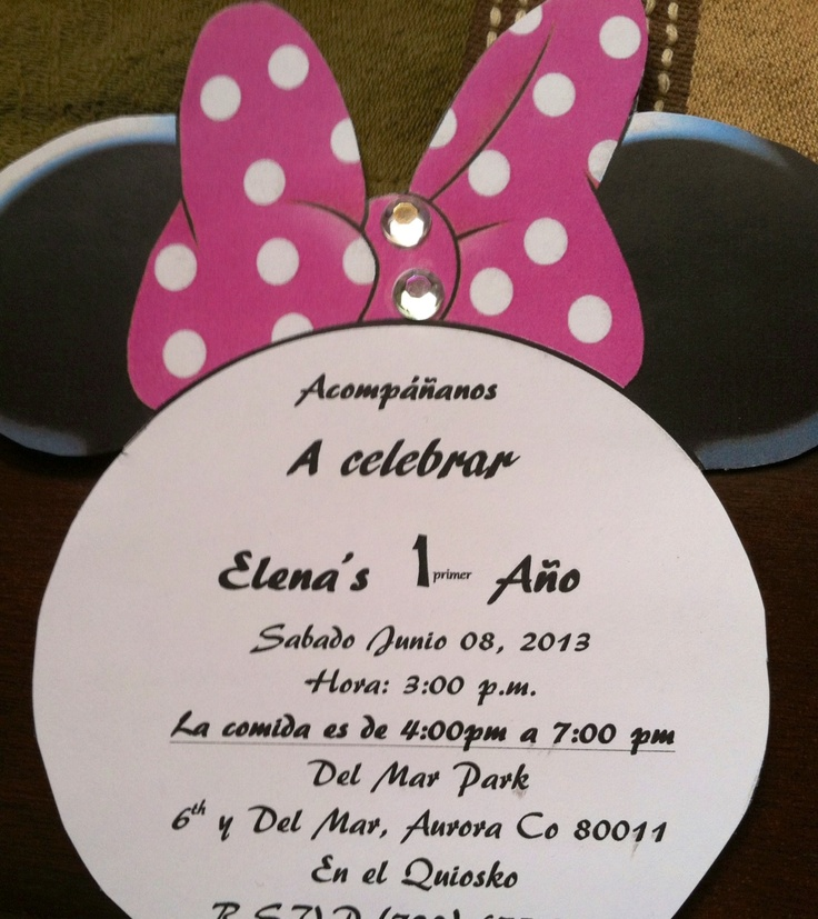 Best Minnie Mouse Party Images On Pinterest Mouse Parties - Birthday party invitation in spanish