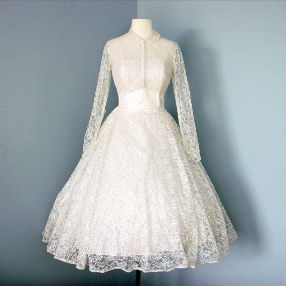 17 Best Images About 1950s Tea Length Wedding Dresses On