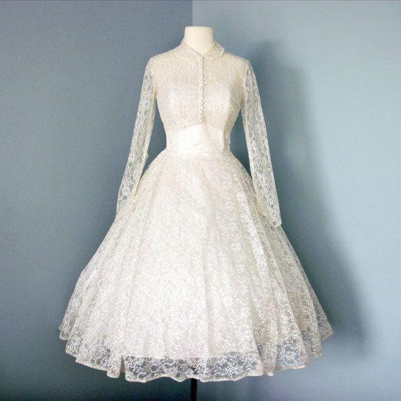 17 best images about 1950s tea length wedding dresses on for 1950s tea length wedding dress