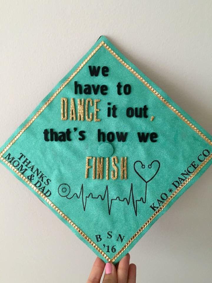 Nursing graduation cap. Greys anatomy quote inspired