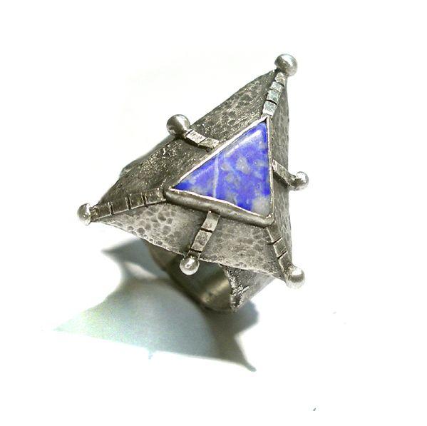ASTEROID|SREBRNY PIERŚCIEŃ|LAPIS LAZULI|SILVER RING|HANDMADE|By Norman Man Jewellery
