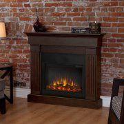 Real Flame Crawford Slim Line Electric Fireplace - Chestnut Oak