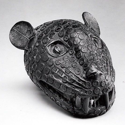Edo people leopard head, Nigeria, Court of Benin, 16th-19th century