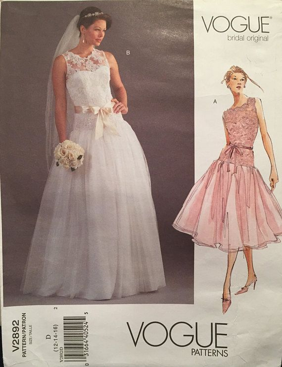 Vogue Bridal Original Wedding Gown Dress Evening Tail Or