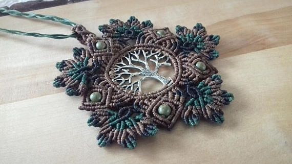 tree of lifetree of life necklacemacrame necklacemacrame