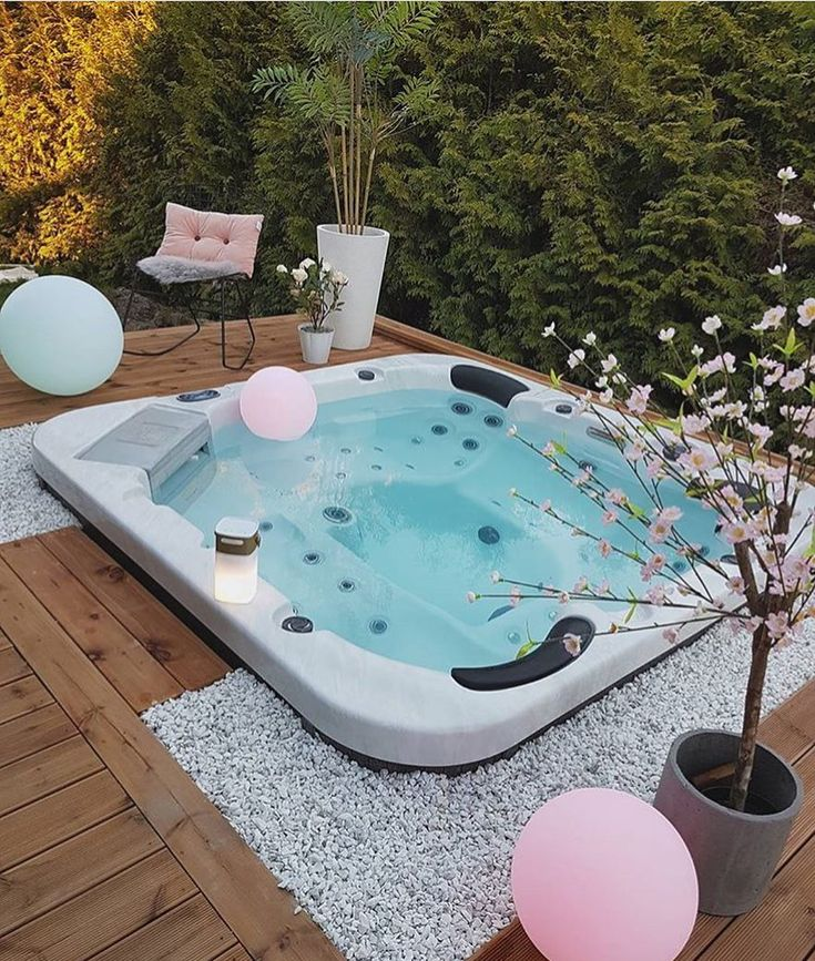 les 96 meilleures images du tableau un spa chez soi sur pinterest jacuzzi piscines et. Black Bedroom Furniture Sets. Home Design Ideas