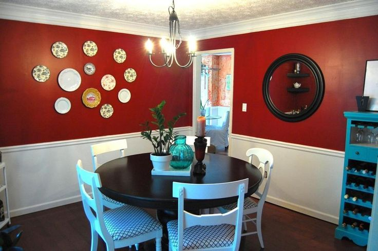 """Jae's """"Red & Turquoise"""" Dining Room — Room for Color 2011"""