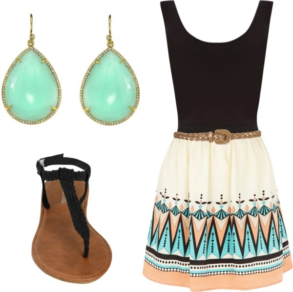 Teal Coral, Fashion, Style, Skirts, Clothing, Cute Summer Outfits, Coral Tribal, The Dresses, Tribal Prints