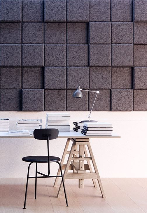 Acoustic Wood Wool Panels BAUX 3D PIXEL - @bauxdesign