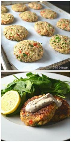 Salmon Cakes with Creamy Mustard Sauce | Delish D'Lites