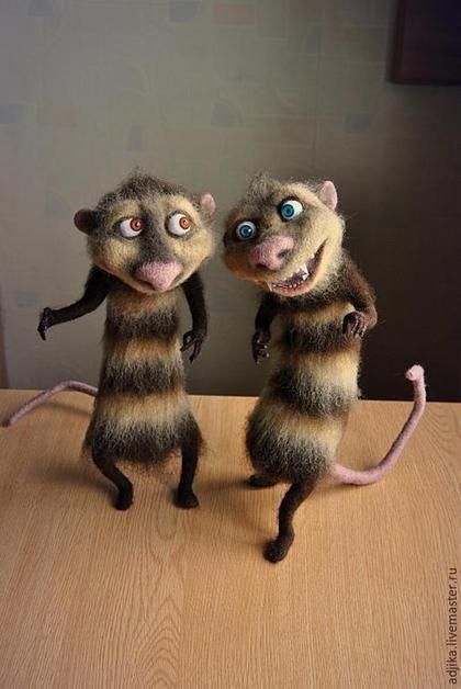*NEEDLE FELTED ART ~ Animal toys, handmade. Possums Crash ...