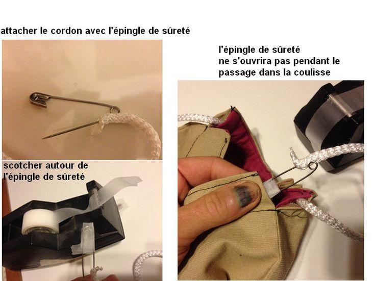 A la tête de l'Art Couture Passion: ASTUCE pour que l'épingle de sûreté qui passe le c...