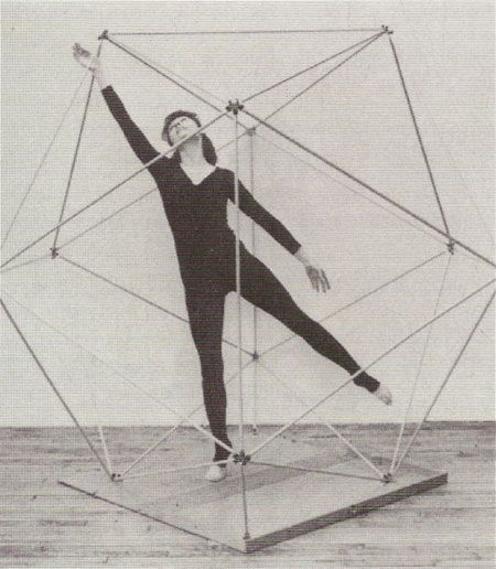 icosahedron // kinesphere or the volume of space directly accessible through the body's parts