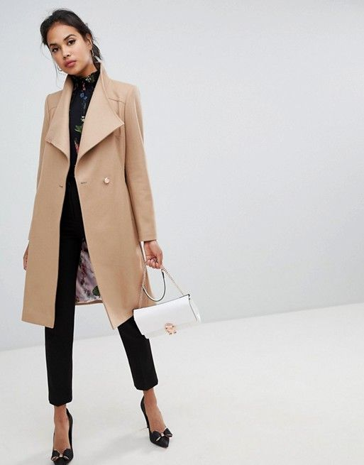 4e66eb590 Ted Baker Sandra Long Wool Wrap Coat in 2019