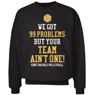 Funny #Volleyball Design Unisex Hanes Ultimate Cotton Crewneck Sweatshirt. #volleyballquotes