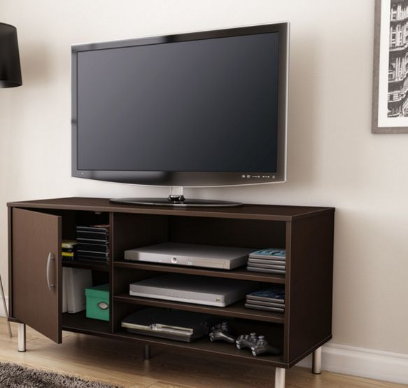 Tv Stand Entertainment Center Furniture Storage Console Table Media Center Wood #Unbranded #Modern