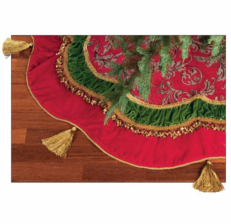 Elegant+Christmas+Tree+Skirts | Elegant Christmas Tree Skirts | Elegant Victorian Christmas Tree Skirt