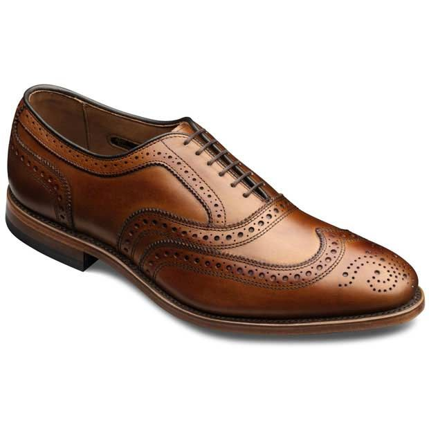 while they are very pricey, they will last a lifetime and they'll always be in style.  the allen edmonds mcallister should be the last pair of dress shoes you'll ever need to buy.  they look great with a suit, khakis, cords, or jeans.