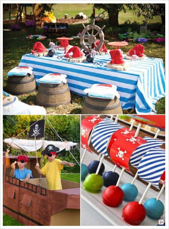anniversaire_garçon_pirates_candy_bar_tonneau barrique cake pop voilier jeu bateau pirates