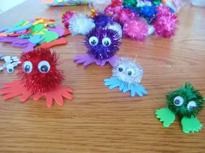 Pom pom Critters - Quiet Critters for teachers