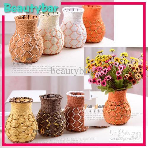 ремесленного цветок тростника ваза корзина для украшения дома в категории ваза