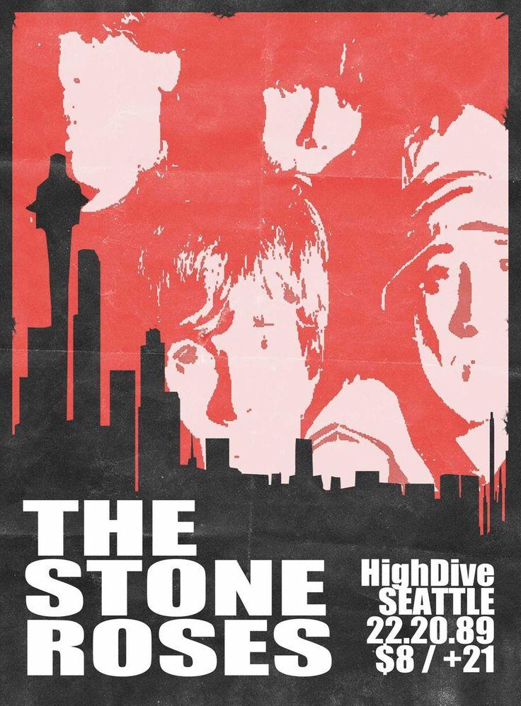 The Stone Roses. #gigposters #musicart #music http://www.pinterest.com/TheHitman14/music-poster-art-%2B/