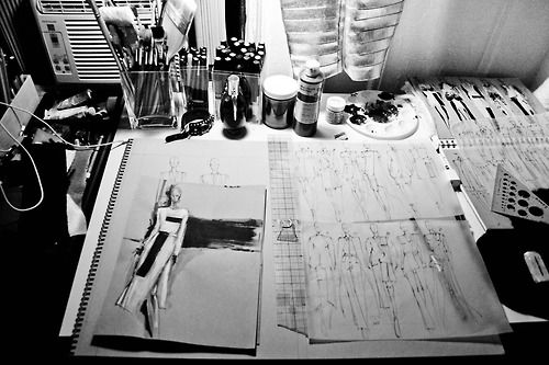 Fashion Sketchbook - fashion design drawings; fashion sketches; fashion journal // Peter Do