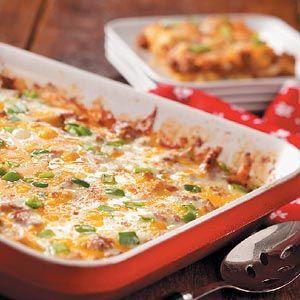 "Zucchini Pizza Casserole - Author wrote, ""My husband has a hearty appetite—our two kids never tire of pizza—and I grow lots of zucchini. So this tasty, tomatoey casserole is absolutely tops with us throughout the entire year. Once you've tried the recipe, you may even decide to grow more zucchini in your own garden next summer!""  1 serving (1 cup) equals 311 calories, 20 g fat (11 g saturated fat), 132 mg cholesterol, 754 mg sodium, 9 g carbohydrate, 2 g fiber, 25 g protein."