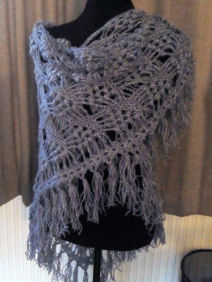 Grapevine Lace Knitting Pattern : Little Grapes Shawl Gebaseerd op een grapevine shawl, met ...