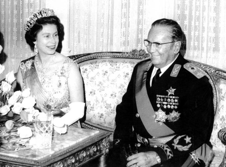 Queen Elisabeth and Tito