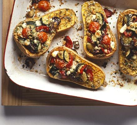 Roasted Butternut Squash with goat's cheese.  Made this and love, love, loved it!
