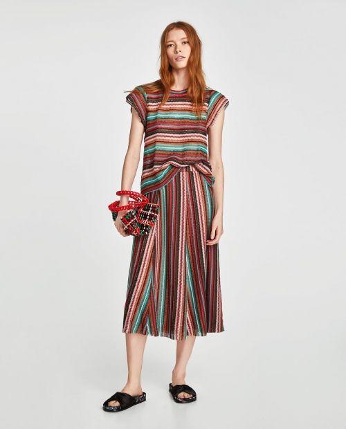93586ae50 Faldas Zara moda: primavera-verano 2018 | Moda primavera verano 2018 ...