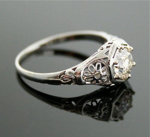 1920s Diamond Ring - Exquisite, VERY High Quality European Cut Diamond  Edwardian Ring  $11,500.00