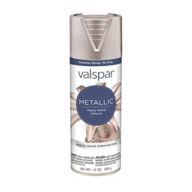 Valspar Brushed Nickel Metallic Fade Resistant Enamel Spray Paint (Actual Net…