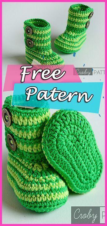 Crochet Baby Booties Green Zebra Free Pattern Babies Quilting