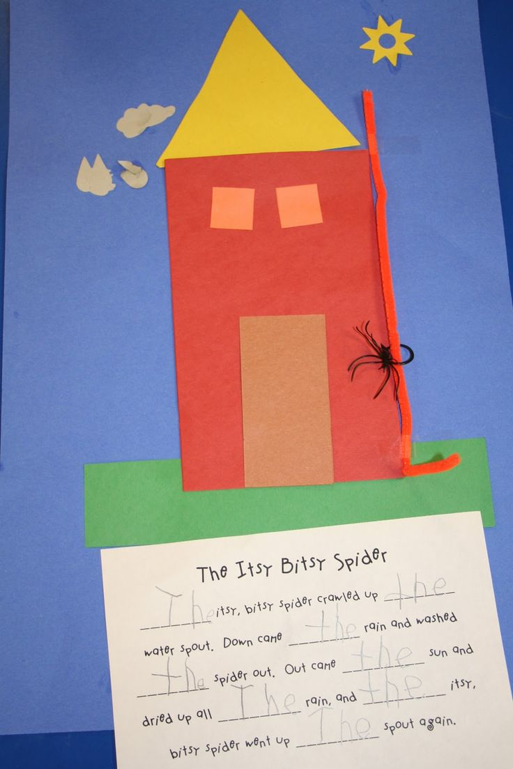 "the itsy bitsy spider ""the"" sight word writing practice"