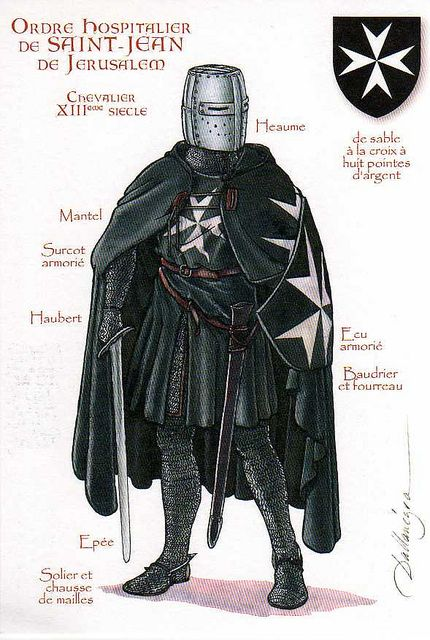 DEUS VULT - The Knights Hospitaller, also known as the Order of Knights of St John of Jerusalem were among the most famous of the Western Christian military orders during the Middle Ages. Description from pinterest.com. I searched for this on bing.com/images