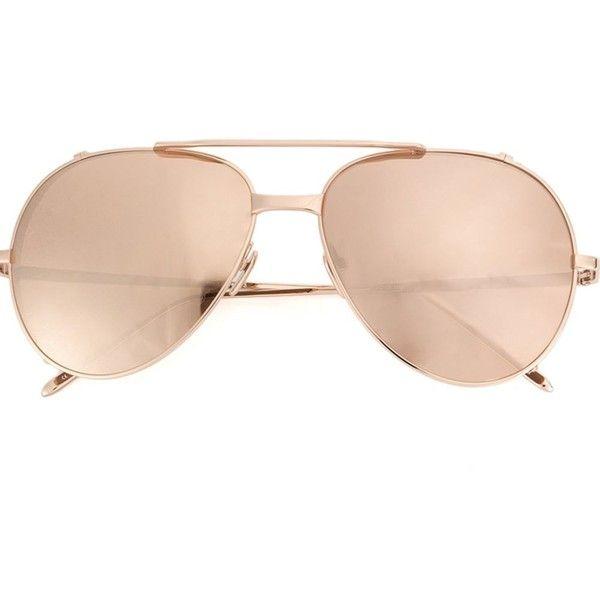 Linda Farrow aviator sunglasses (29 315 UAH) ❤ liked on Polyvore featuring accessories, eyewear, sunglasses, linda farrow glasses, linda farrow, aviator sunglasses, aviator style sunglasses and linda farrow eyewear