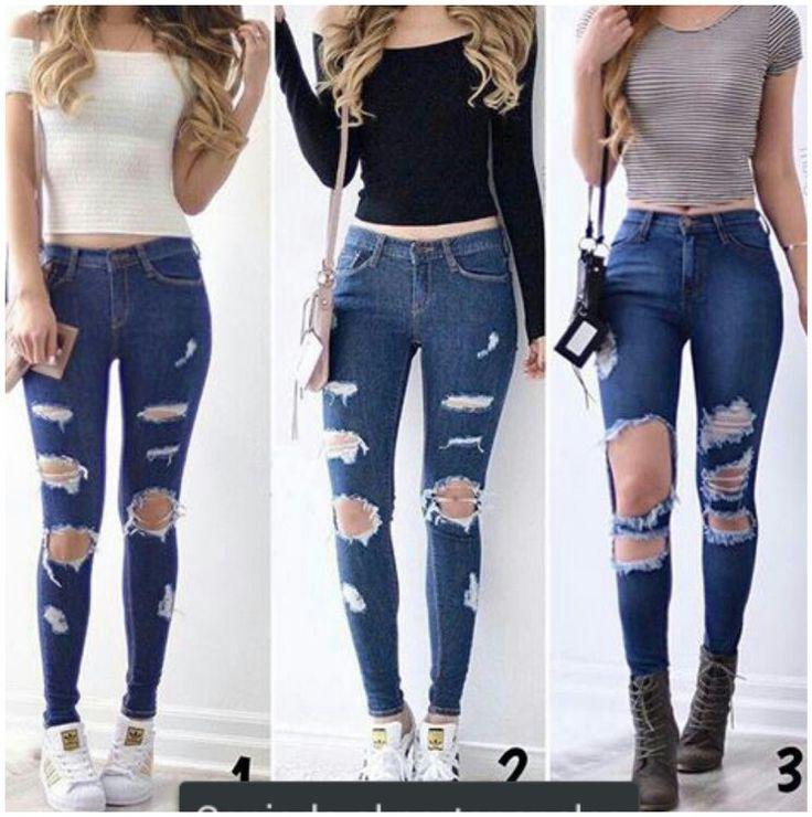 Lindos jeans desgarrados