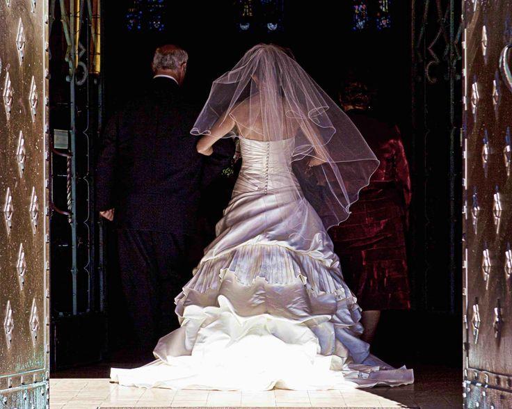 A lovely wedding dress.
