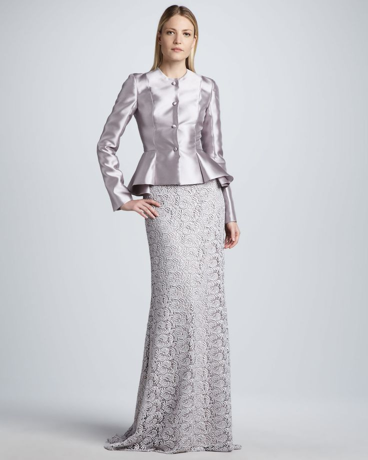 Silver peplum jacket wedding dresses pinterest for Peplum dresses for weddings