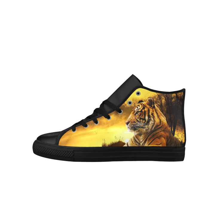 Tiger and Sunset Aquila High Top Action Leather Women's Shoes. FREE Shipping. FREE Returns #sneakers #tigers