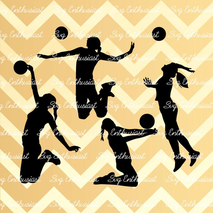 Volleyball player silhouette bundle SVG, Woman Volleyball player SVG, Volleyball…