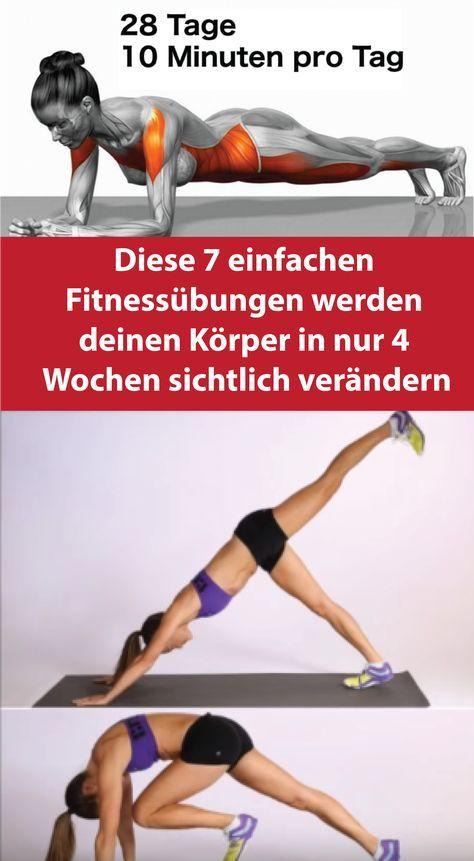 Diese 7 einfachen Fitnessübungen werden deinen Körper in nur 4 Wochen sichtlich verändern – Larissa Hagemann