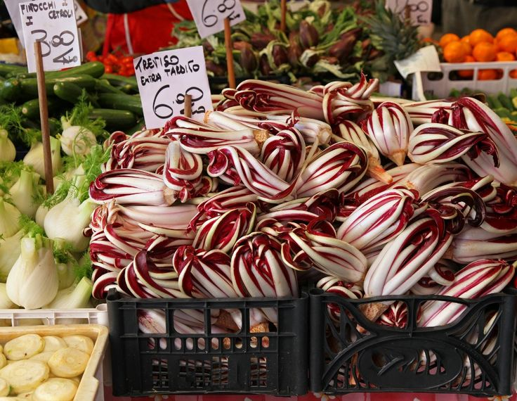"""Foodie guide to RADICCHIO   Whenever Italians want to add a splash of purple to their recipes """"radicchio"""" does the trick. But this colourful chicory is especially famous for its distinctive, elegant, slightly bitter taste that makes it a versatile ingredient to have in salads, soups, risotto, on pizzas or just on its own, grilled and served with top quality extra virgin olive oil and Modena Balsamic vinegar."""