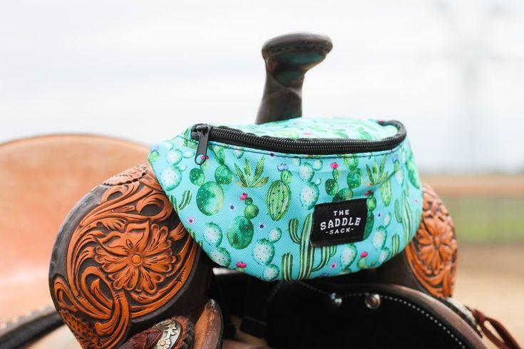 Watercolor cactus aztec saddle sack