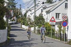 Biking in Grimstad  Photo: Hanne Feyling, Visit Sørlandet