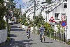 Biking in Grimstad  Photo: Hanne Feyling, Visit Sørlandet