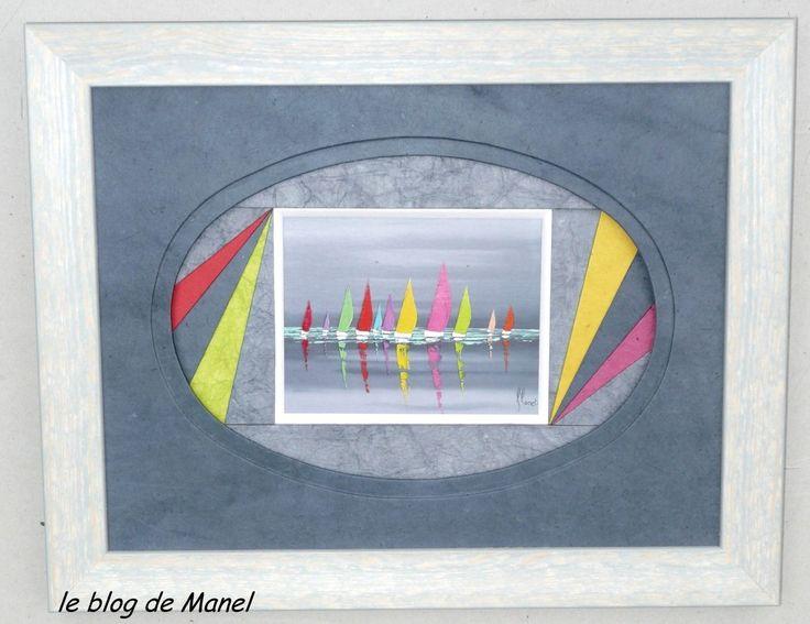 les cadres de Manel / éventail dans un ovale